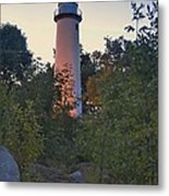 Pointe Aux Barques Lighthouse 7072 Metal Print