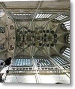pointed vault of Saint Barbara church Metal Print