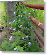 Points Of Blue Metal Print