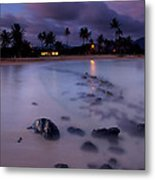 Poipu Evening Storm Metal Print by Mike  Dawson