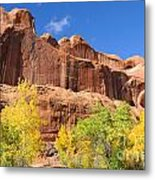 Poison Spider Mesa In The Fall Metal Print by Gary Whitton