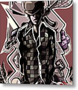 Poker Vice And Playing Your Cards Too Right.  Metal Print
