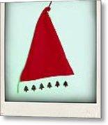 Polaroid Of A Christmas Hat Metal Print