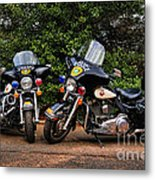 Police Motorcycles Metal Print by Paul Ward