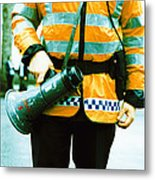 Police Officer Metal Print by Kevin Curtis