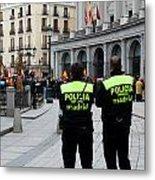 Policia Madrid Metal Print