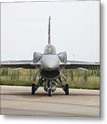 Polish F-16c Block 52 At Albacete Metal Print