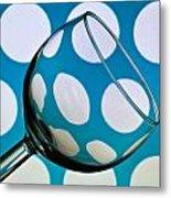 Polka Dot Glass Metal Print