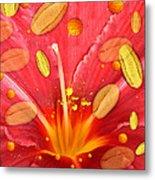 Pollen And Flower Metal Print