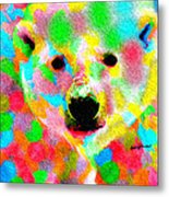 Polychromatic Polar Bear Metal Print