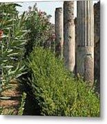 Pompeii Columns 2 Metal Print