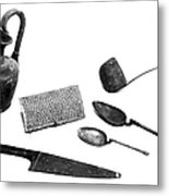 Pompeii: Kitchen Utensils Metal Print