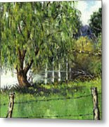 Pond By Delomino Farm Metal Print