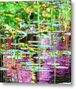 Pond In Purple Metal Print