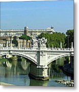 Ponte Sant'angelo In Rome Metal Print
