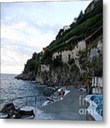 Pool In The Amalfi Santa Caterina Hotel Metal Print