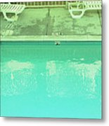 Poolside Seating Metal Print