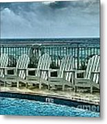 Poolside With A View Metal Print