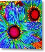 Pop Art Daisies 2 Metal Print