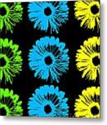 Pop Art Floral I Metal Print