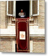 Pope Benedict Xvi B Metal Print by Andrew Fare