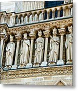Popes At Notre Dame Cathedral Metal Print