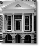 Poplar Forest South Portico Bw Metal Print