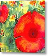 Poppies Face To The Sun Metal Print