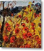 Poppies In Provence 456321 Metal Print