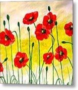 Poppies Metal Print by Sonya Ragyovska