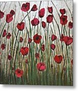 Poppy Field Metal Print by Holly Donohoe
