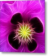 Poppy In Pink Metal Print