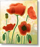 Poppy Mountain Meadow Metal Print by Melisa Meyers