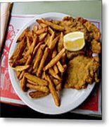 Popular Argentine Breaded-meat Dish Metal Print