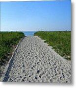 Popular Beach Path Metal Print