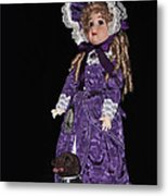 Porcelain Doll - Full View With Puppy Metal Print