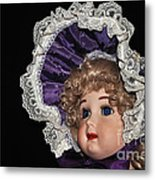 Porcelain Doll - Head And Bonnet Metal Print