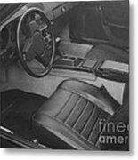 Porsche Interior Metal Print