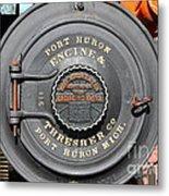 Port Huron Engine And Thresher Company . Steam Train Locomotive Engine 8613 . 7d12906 Metal Print