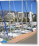 Port In Marbella Metal Print