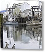 Port Of Nahcotta Metal Print by Pamela Patch