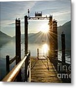 Port On In Sunset Metal Print