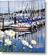 Port Orchard Water Front Marina  Metal Print