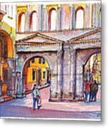 Porta Borsari Verona  First Century Ad Roman Gate Metal Print