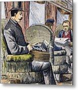 Portable Typewriter, 1889 Metal Print