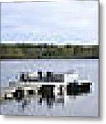 Portage Lake Panorama Metal Print