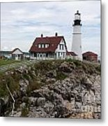 Portland Head Light Cape Elizabeth Fort Williams Maine Metal Print