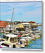 Portland Maine Harbor Metal Print
