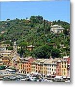 Portofino Hillside Metal Print