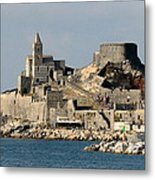 Portovenere's Church And Fortress Metal Print